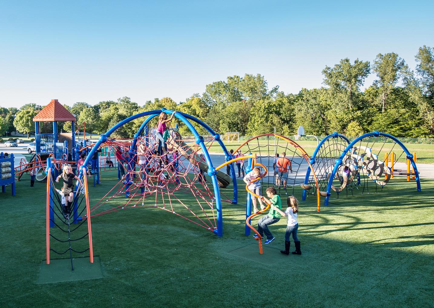 elementary school playground installation