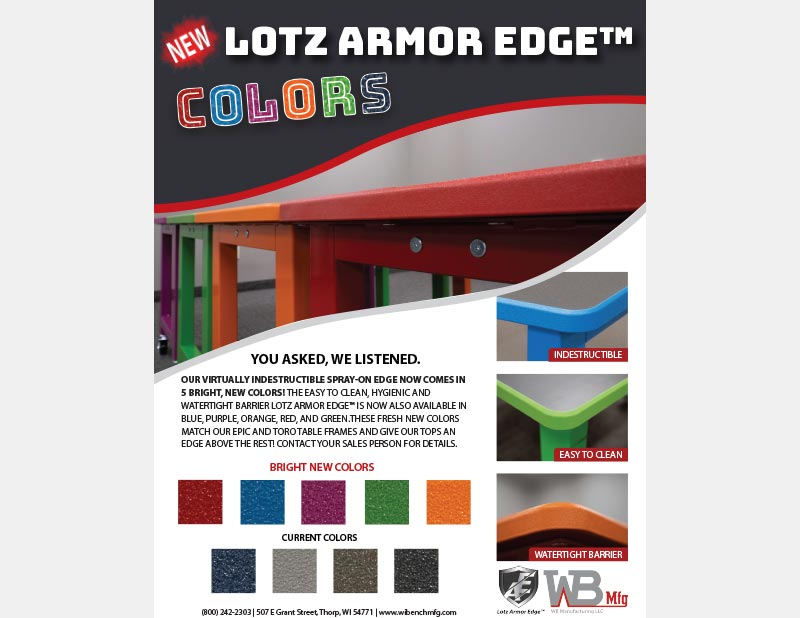 Lots Armor Edge Colors by WB Manufacturing LLC